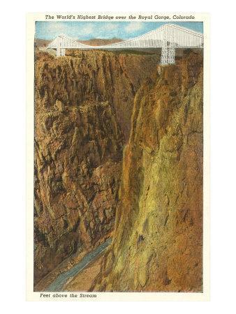Royal Gorge Bridge, Colorado--Art Print