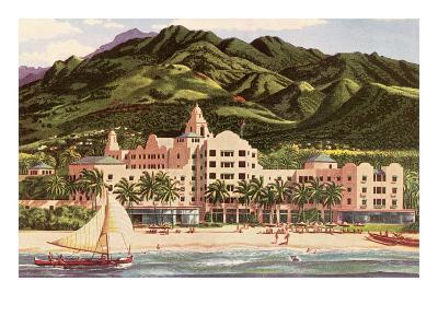 Royal Hawaiian Hotel, Hawaii--Art Print