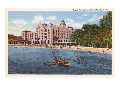 Royal Hawaiian Hotel, Waikiki, Hawaii--Art Print