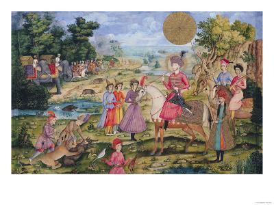Royal Hunt, from Isfahan, Iran--Giclee Print