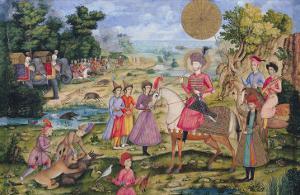 Royal Hunt, from Isfahan, Iran