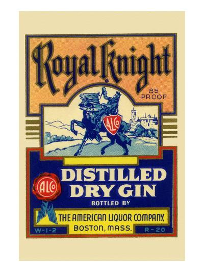 Royal Knight Distilled Dry Gin--Art Print