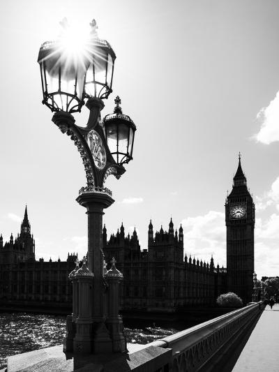Royal Lamppost UK and Houses of Parliament and Westminster Bridge - Big Ben - London - England-Philippe Hugonnard-Photographic Print