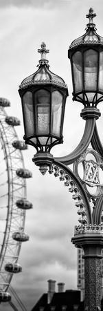 Royal Lamppost UK and London Eye - Millennium Wheel - London - England - Door Poster-Philippe Hugonnard-Premium Photographic Print