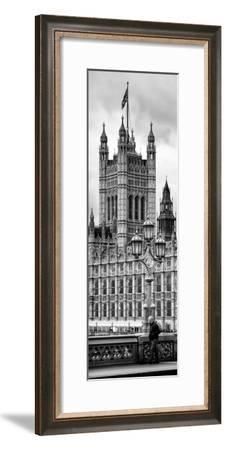 Royal Lamppost UK and London Eye - Millennium Wheel - London - England - Door Poster-Philippe Hugonnard-Framed Photographic Print
