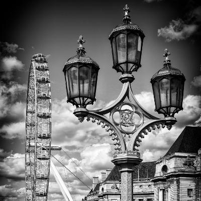 Royal Lamppost UK and London Eye - Millennium Wheel - London - UK - England - United Kingdom-Philippe Hugonnard-Photographic Print