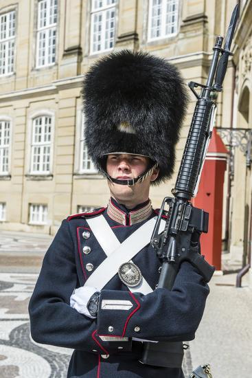 Royal Life Guard, Amalienborg, Winter Home of the Danish Royal Family, Copenhagen, Denmark-Michael Runkel-Photographic Print