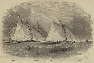 Royal London Yacht Club Match, the Start from Erith-Edwin Weedon-Giclee Print