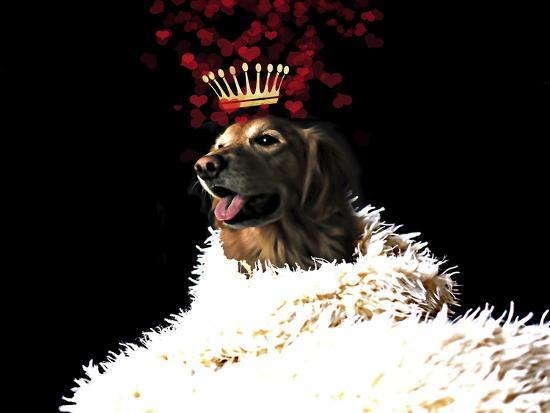 Royal Love Pup - Golden Retriever-Tina Lavoie-Giclee Print