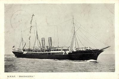 Royal Mail Lines, R.M.S.P, Magdalena, Dampfer--Giclee Print