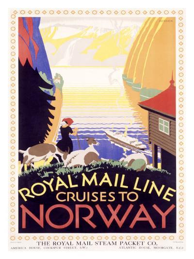 Royal Mail Ocean Line, Norway-Herrick-Giclee Print