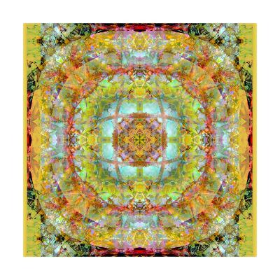 Royal Mandala Golden Nature II-Alaya Gadeh-Art Print