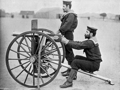 Royal Navy Maxim Gun Practice at Whale Island, Portsmouth, Hampshire, 1896-Gregory & Co-Giclee Print
