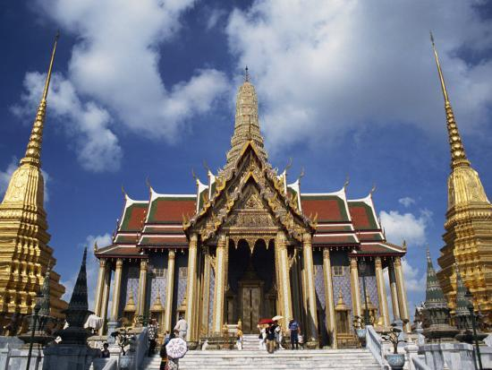 Royal Pantheon at Wat Phra Keo in the Grand Palace, Bangkok, Thailand, Southeast Asia-Tomlinson Ruth-Photographic Print
