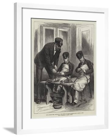 Royal Sailor Boys, the Sons of the Prince of Wales Learning How to Splice a Rope--Framed Giclee Print
