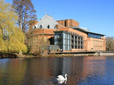 Royal Shakespeare Company Theatre and River Avon, Stratford-Upon-Avon, Warwickshire, England, UK-Rolf Richardson-Photographic Print