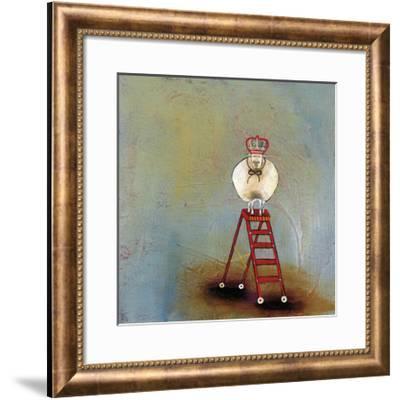 Royal Sheep on Ladder-Stacy Dynan-Framed Giclee Print