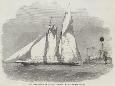 Royal Thames Yacht-Club Schooner Match, The Shark Rounding The Mouse Light-Ship-Edwin Weedon-Giclee Print