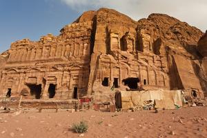 Royal Tombs at Ancient Nabatean City of Petra, Wadi Musa, Ma'an Governorate, Jordan