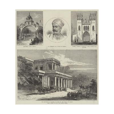Royal Visit to India--Giclee Print