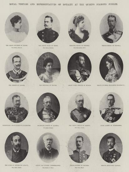 Royal Visitors and Representatives of Royalty at the Queen's Diamond Jubilee--Giclee Print