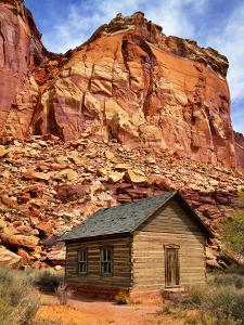 One Room Log School House, Fruita by Royce Bair