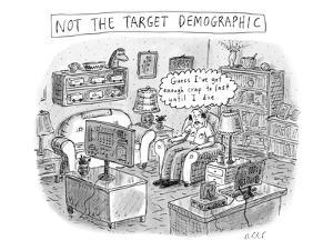 A white, middle-aged male is deemed: not the target demographic. In his li? - New Yorker Cartoon by Roz Chast