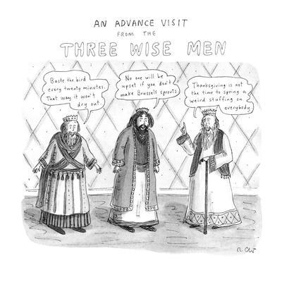 An Advance Visit From The Three Wise Men - New Yorker Cartoon