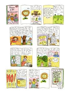 "Book, ""Women of The Wilderness"" a women's role in the wilderness. - New Yorker Cartoon by Roz Chast"