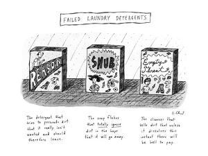 Failed Laundry Detergents - New Yorker Cartoon by Roz Chast