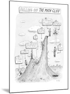 """""""Falling off the Math Cliff"""" - New Yorker Cartoon by Roz Chast"""