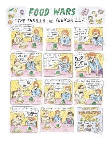 "Food Wars: ""Thrilla in Peekskilla"" - New Yorker Cartoon by Roz Chast"