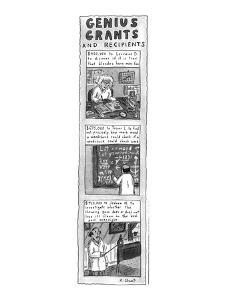 Genius Grants and Recipients - New Yorker Cartoon by Roz Chast