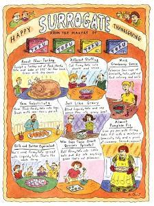 HAPPY SURROGATE THANKSGIVING - New Yorker Cartoon by Roz Chast