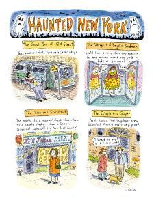 Haunted New York - New Yorker Cartoon by Roz Chast