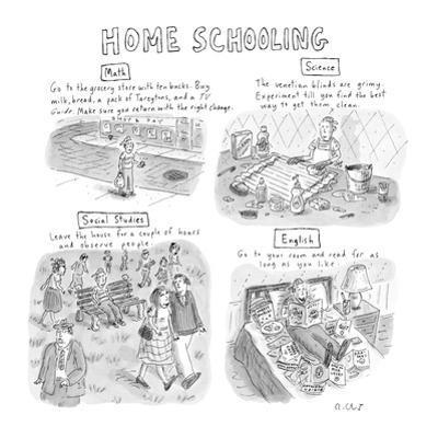 'Home Schooling' - New Yorker Cartoon