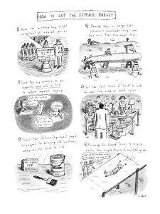 How To Cut The Defense Budget - New Yorker Cartoon by Roz Chast