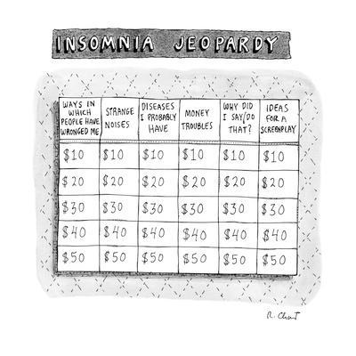 Insomnia Jeopardy - New Yorker Cartoon