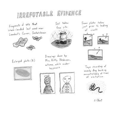 Irrefutable Evidence - New Yorker Cartoon by Roz Chast