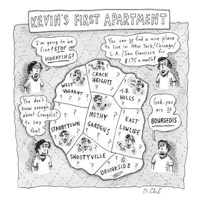 Kevin's first apartment - New Yorker Cartoon