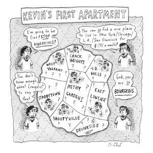 Kevin's first apartment - New Yorker Cartoon by Roz Chast