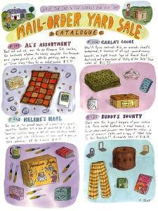 Leave the car in the garage and use the Mail-Order Yard Sale catalogue - New Yorker Cartoon by Roz Chast