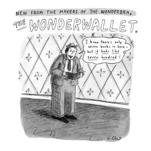 """Man holding wallet says, """"I know there's only seven bucks in here-but it l?"""" - New Yorker Cartoon by Roz Chast"""