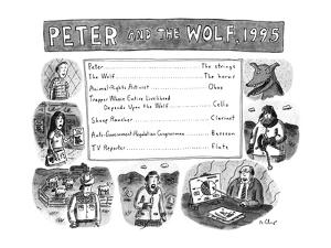 PETER AND THE WOLF, 1995 - New Yorker Cartoon by Roz Chast
