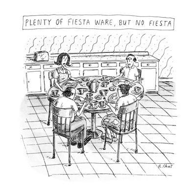 Plenty Of Fiesta Wear, But No Fiesta - New Yorker Cartoon