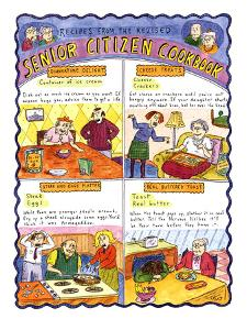 RECIPES FROM THE REVISED SENIOR CITIZEN COOKBOOK - New Yorker Cartoon by Roz Chast