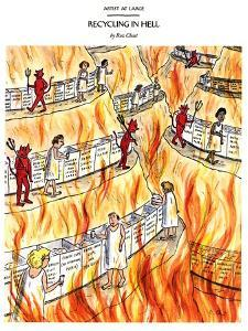 RECYCLING IN HELL - New Yorker Cartoon by Roz Chast