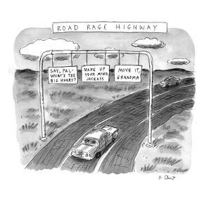 'Road Rage Highway' - New Yorker Cartoon by Roz Chast