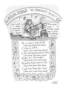 The Democrat Blues - New Yorker Cartoon by Roz Chast