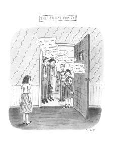 The Entire Family - New Yorker Cartoon by Roz Chast